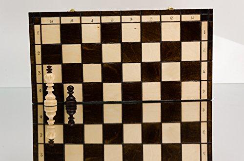 Master-of-Chess-Superb-DIAMONDS-42cm165in-groes-Schachspiel-aus-Holz-Sehr-beliebtes-europisches-handgefertigtes-Schach