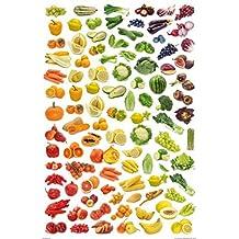 Cocina - Arcoíris De Frutas Y Verduras Póster (91 x 61cm)