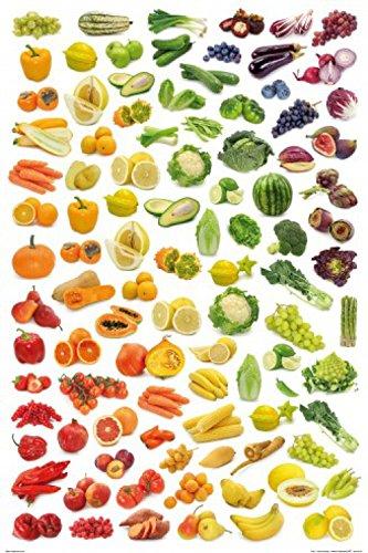 Set: Cucina, Arcobaleno di Frutti E Verdure Poster Stampa (91x61 cm ...