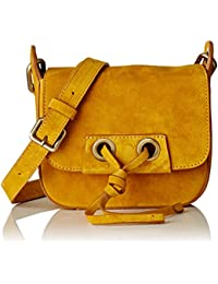 Vanessa Bruno Femme Charlie mini cuir Cabas, Jaune, 17x54x15 cm (W x H x L)