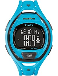 ea9f77608fbc Timex Mens iron man INDIGLO alarme élégant bleu chronographe TW5M01900