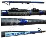 canna da pesca spinning travel short 2.10m trota bass spigola