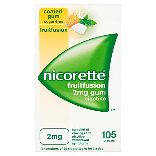 Nicorette Fruitfusion Gum 2 mg, 105 Pieces