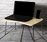 Decostyle Multipurpose Laptop/ Portable/ Bed/ Study Folding Table With Inbuilt Mobile Stand - Golden Oak