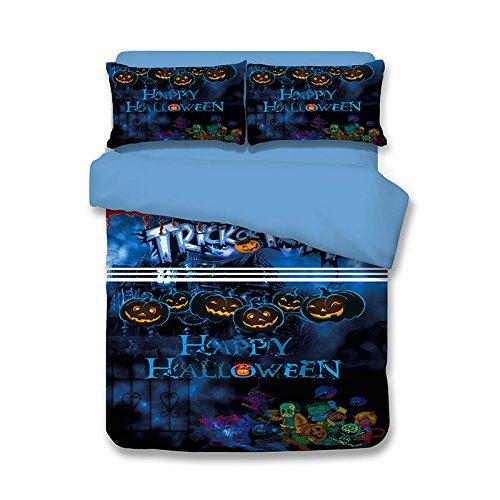 lkklily-bedding Home Textiles Drei Stücke/Vier Stücke von 3D bedruckt Halloween Schlafzimmer Dekoration, 03, 1.2m sheet 4pc (ägyptische 3d-puzzle)