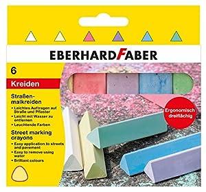 Eberhard Faber 526503-Calle Veces Tiza Triangular, Estuche de 6