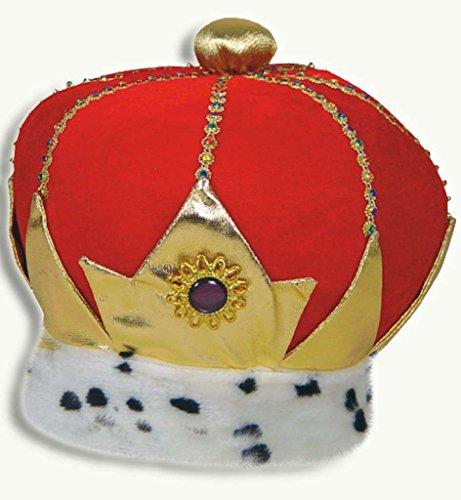 Samt-Krone 2. Wahl Königskrone Karneval Märchenkrone Märchenkönig - Spielzeug Königreich Prinz Kostüm