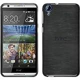 Funda de silicona para HTC Desire 820 - brushed plata - Cover PhoneNatic Cubierta + protector de pantalla