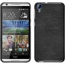 PhoneNatic HTC Desire 820Móvil Silicona plata Brushed Case Desire 820Funda + 2Protectores
