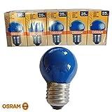 5 x Osram Glühbirne 25W BLAU E27 25 Watt Glühlampe Glühbirnen Glühlampen