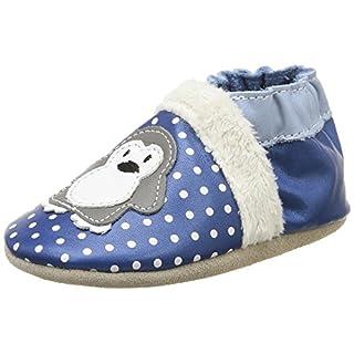 Robeez Baby Girls' Lil Auk First Walking Shoes Blue Size: 2.5/3.5 UK Child