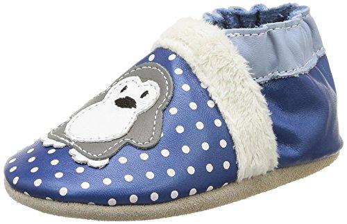 Robeez Lil auk, Baby Babyschuhe - Lauflernschuhe Blau Bleu (5) 19-20 (Lil Kinder Schuhe)