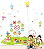 UberLyfe Biggest Wall Sticker we Have Lil Town Height Chart Wall Sticker - 5.7 Ft. Size 6 (Wall Covering Area: 210cm x 205cm) - WS-000073