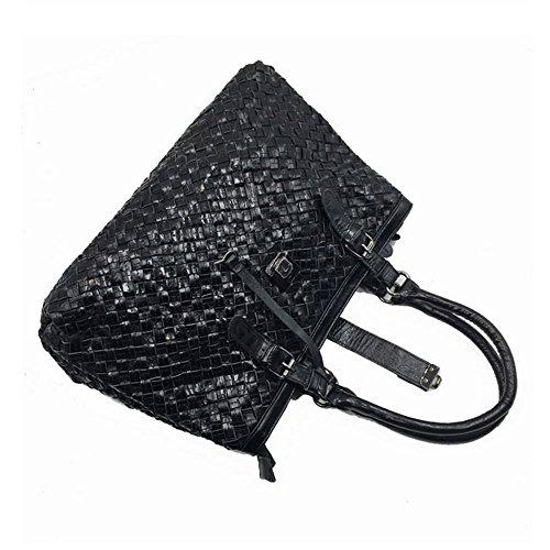 Eysee, Borsa tote donna multicolore Black 38cm*25cm*17cm Black