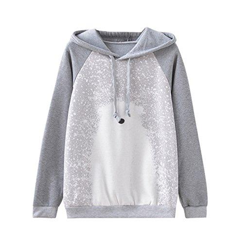 Kapuzenpullis Sweatshirt Tops LUVERSCO Frauen Mit Langen äRmel Warm EisbäRen Print Vlies Hoodies Blusen Hemden. (S) (Champion Kleidung Hund)