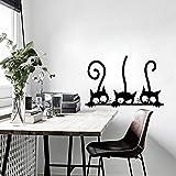 Pegatinas Tres gatitos Gatos vinilo pared decorativo para pared Imagen Frigorífico pared Tat...