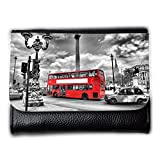 Portemonnaie Geldbörse Brieftasche // V00002683 London-Bus in // Medium Size Wallet