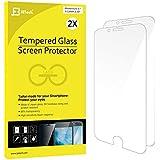JETech 0803- Protector de Pantalla para iPhone 6s, iPhone 6 4,7, Vidrio Templado, 2 Unidades