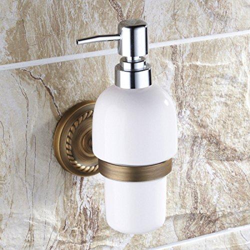 Alle Kupfer Vintage Antiken Europäischen Stil Badezimmer Seifenspender Handdesinfizierer Becherhalter Hardware-Zubehör Keramik-Seifenflasche (Badezimmer Hardware Zubehör)