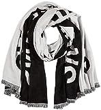 Calvin Klein Damen J 100x200CM SUPPORTER SCARF Schal, Schwarz (Black Bae), One Size (Herstellergröße:OS)