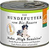defu Bio Hundefutter Nassfutter getreidefrei mit zartem Huhn   Hundefutter mit hohem Fleischanteil von 87 Prozent