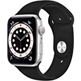 Compatible with Apple Watch Band 42mm 44mm, Soft Silicone Sport Strap Replacement Bands Compatible with Watch Series 6/5/4/3/