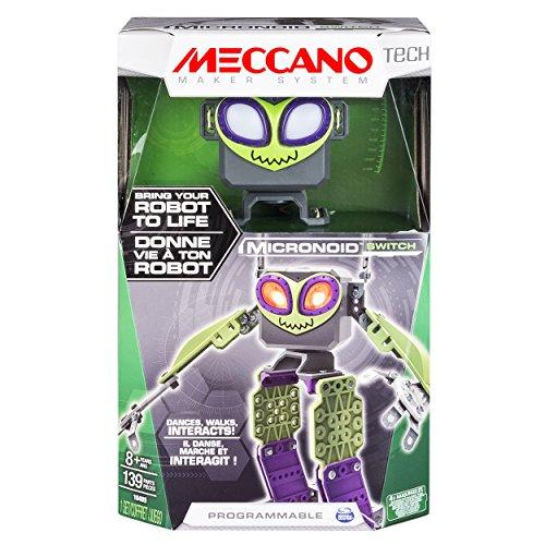 MECCANO Tech Micronoid - programmable Toys (Batería, Verde, Gris, Violeta, Caja)