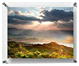 #9: Paper Plane Design Double Panel Clear Acrylic Floating Frame With Silver Hardware For Art & Photos (11 In X 17 In)