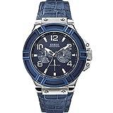 Guess Herren-Armbanduhr XL Chronograph Quarz Leder W0040G7