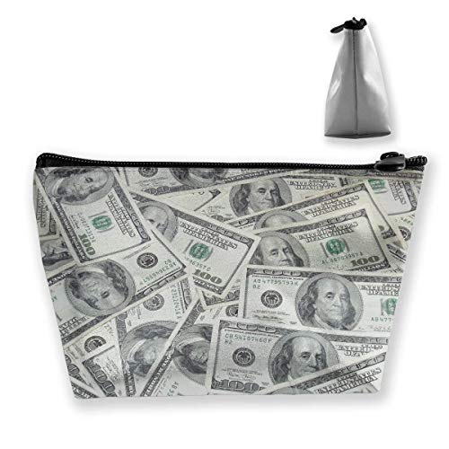 Cool USA Dollar Bill Pencil Case Pen Zipper Bag Coin Organizer Makeup Costmetic Storage Bag Pouch (2 Case Dollar Bill)