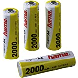 Hama Ready4Power - Pilas Ni-MH (4 pilas AA, 2000 mAh)