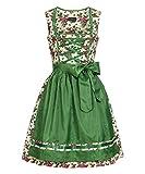 Tracht & Pracht - Damen 100% Baumwolle - Dirndl Set 2 Teilig - Kleid Flora - 38