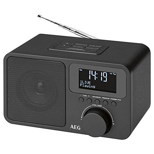 AEG DAB 4154 DAB+ Radio inklusive PLL-UKW AUX-IN Kophhöreranschluss 40 Senderspeicher schwarz