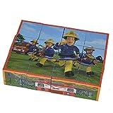 Unbekannt Bilderwürfel aus hochwertigem Holz 6 verschiedene Feuerwehrmann Sam Motive • Feuerwehr Puzzle Bilder Würfel Bausteine Kinder Spielzeug