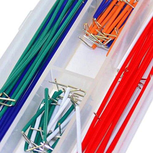 Gazechimp 140 Stück Platine Jumper Kabel Draht Kit mit Aufbewahrungbox - 3