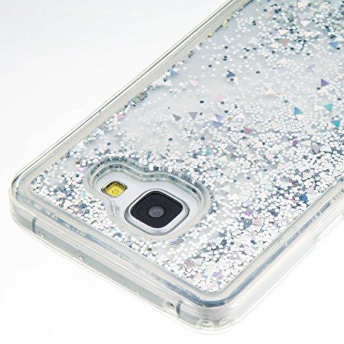 für Samsung Galaxy A3 (2016) A310 A310F Hülle, 3D Fließen Flüssig Schwimmend Treibsand Stern Bling Luxus Shiny Glanz Sparkle Kristall Crystal Bunte der Liebe Design zurück Tasche Schutzhülle für Samsu 10