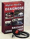 MyCor-Media OBD2 USB Diagnosegerät Interface für BMW Inpa, NCS Expert, Rheingold + Software
