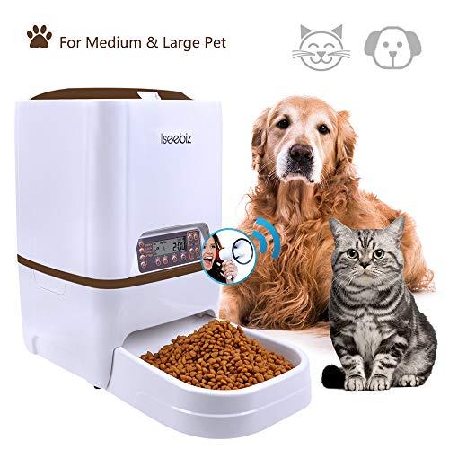 Iseebiz 6 litro Comedero Automatico para Perros Dispensador Automatico Comida Gatos con...