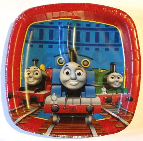 Thomas the Tank Engine THOMAS & FRIENDS 7 Inch Square DIVIDED Party Plates (8 Count) by Thomas the Tank Engine (Thomas The Tank Engine Party)
