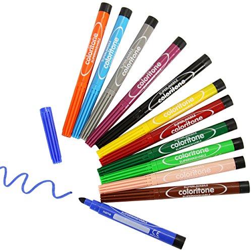 Fasermaler 12 Stück ✓ Faserstifte in 12 Farben ✓ Filzstifte ✓ Minenstärke ca. 6mm ✓...