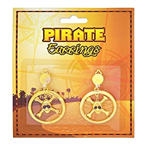 Pirate Skull n Crossbones Earrings (accesorio de disfraz)