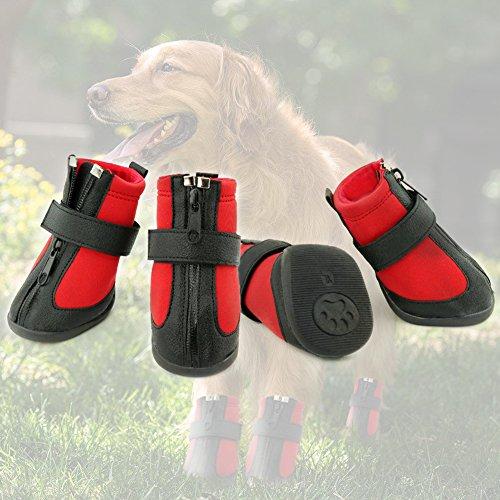 Grand Line wasserdichte Hundestiefel, Pfotenschutz, Hundeschuhe mit verschleißfesten und rutschfesten Sohlen - Größe XL -