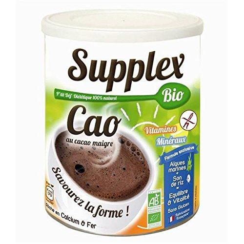 Supplex petit dejeuner diététique AB au cacao sans gluten boite 400g - ( Prix Unitaire ) - Envoi Rapide Et Soignée