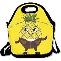 Preisvergleich für Ananas-Emoji Like A Sir Lunch-Tasche, Handtasche, Lunchbox, Lebensmittelbehälter, Kühltasche für Schule, Arbeit, Büro