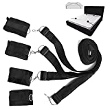 NALITARE Adjustable Under the Bed Restraints Straps Hand Leg Supports Exercise Bands for Couples- Can used on ANY Bed (Black)