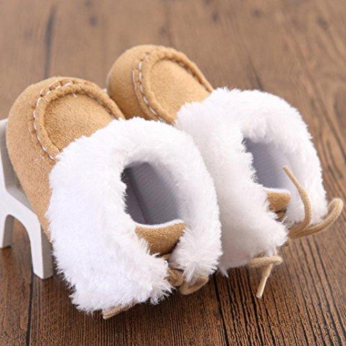 Hunpta Babyschuhe Mädchen Jungen Lauflernschuhe Baby Schneestiefel weiche Sohle weiche Krippe Schuhe Kleinkind Stiefel (12, Hot Pink) Khaki