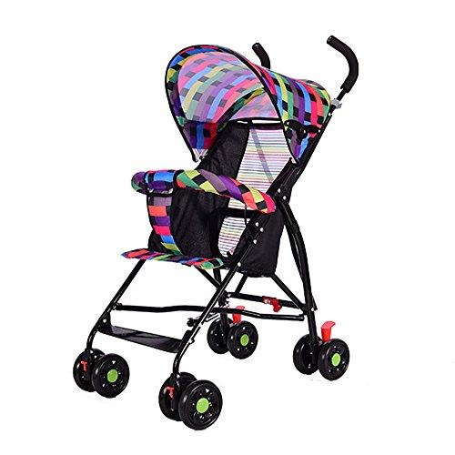 Carritos y sillas de paseo/Cochecito cochecito ultraligero cochecito plegable, para bebés, de verano, sombrilla, para niños Cochecito de cuatro ruedas Carrycot Buggy (A-1)