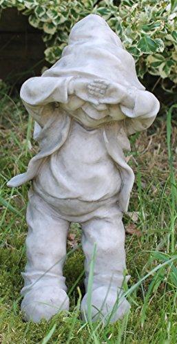 Dekofigur Wichtel Gnom Granit look Gartenfigur 32 cm Gartenzwerg Gartendekoration - 5