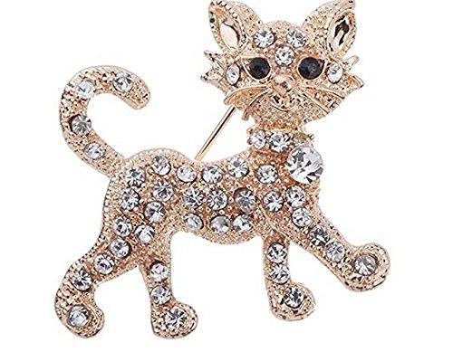 omeny dreidimensionale Katze Stil Brosche Pins vergoldet Schmuck Zubehör Dekoration (Geld Brosche)