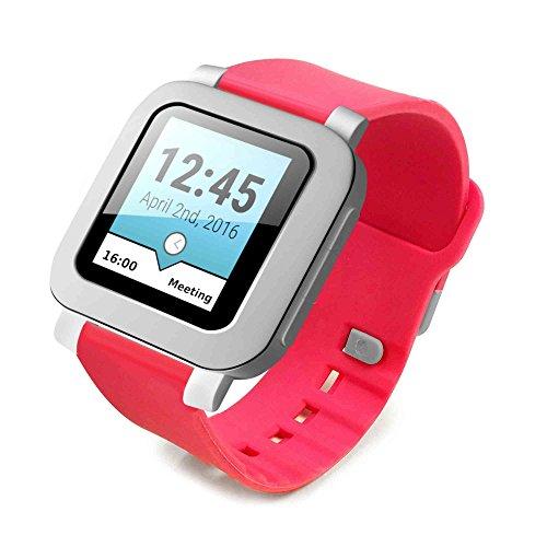 tuff-luv-silicone-da-polso-banda-cinturino-di-orologio-per-pebble-time-classic-smartwatch-rosso